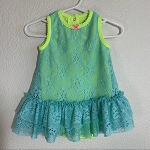 Baby Starters Lace Dress with Snap Onesie 9 months